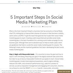 5 Important Steps In Social Media Marketing Plan