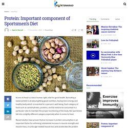 Protein: Important component of Sportsmen's Diet