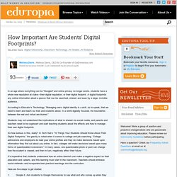 How Important Are Students' Digital Footprints?