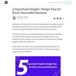 5 Important Graphic Design Tips for Every Successful Business