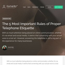 The 5 Most Important Rules of Proper Telephone Etiquette - Online Employee Schedule Software