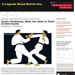 Important Things to Know About Savate Kickboxing