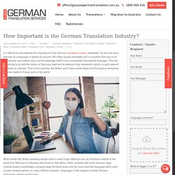 How Important is the German Translation Industry?
