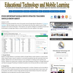 Educational Technology and Mobile Learning: Four Important Google Drive Updates Teachers Should Know about