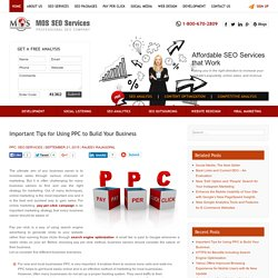Important Tips for Using PPC to Build Your Business
