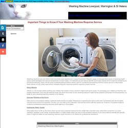Important Things to Know if Your Washing Machine Requires Service