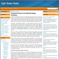 Important Points to Hire Website Design Company