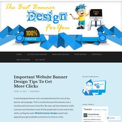 Website Banner Design – Get The Professional Look For Your Website