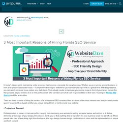 3 Most Important Reasons of Hiring Florida SEO Service