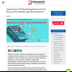 Importantce of Marketing Research for Successful Mobile App Development