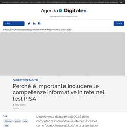 Perché è importante includere le competenze informative in rete nel test PISA