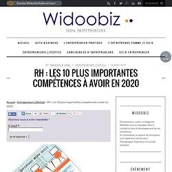 RH : Les 10 plus importantes compétences à avoir en 2020