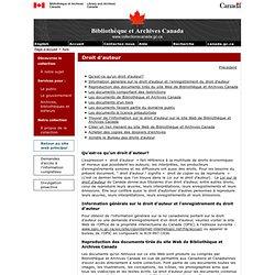 Droit d'auteur - Avis importants - Bibliothèque et Archives Canada