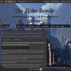 The Elder Scrolls Online - Importants changements pour Morrowind, la classe du Gardien et les champs de bataille - The Elder Scrolls Online
