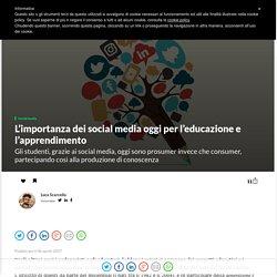 L'importanza dei social media per l'educazione e l'apprendimento