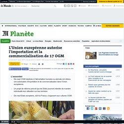 L'Union européenne autorise l'importation et la commercialisation de 17 OGM