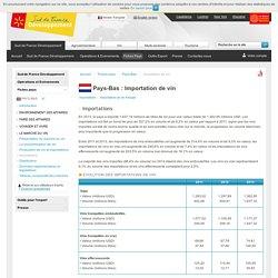 Importation de vin aux Pays-Bas - Pays-Bas