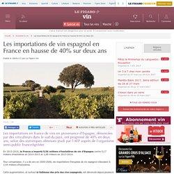 Les importations de vin espagnol en France en hausse de 40% sur deux ans.