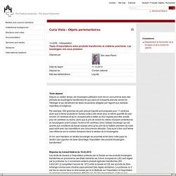 14.4208 - Taxes d'importations entre produits transformés et matières premières. Les boulangers mis sous pression - Curia Vista - Objets parlementaires - The Federal Assembly - The Swiss Parliament