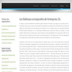 Les faiblesses conceptuelles de l'entreprise 2.0 « JeremyM