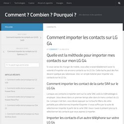 Importer les contacts sur LG G4