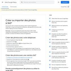 Créer ou importer des photos à360° - Android - Aide GoogleMaps