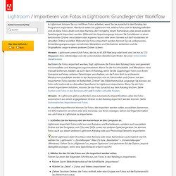 Photoshop Lightroom 4 * Importieren von Fotos in Lightroom: Grundlegender Workflow