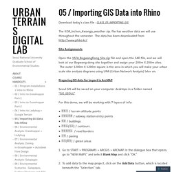 05 / Importing GIS Data into Rhino – URBAN TERRAINS DIGITAL LAB