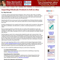 Importing Wholesale Products to Sell on eBay