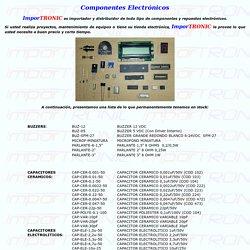 ImporTRONIC.net Componentes Electrónicos Ecuador y Repuestos Electrónicos Ecuador