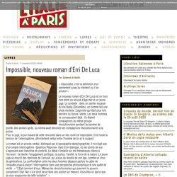Impossible, nouveau roman d'Erri De Luca...