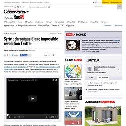 Syrie : chronique d'une impossible révolution Twitter