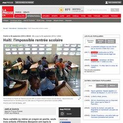 Haïti: l'impossible rentrée scolaire