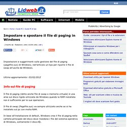 Impostare e spostare il file di paging in Windows