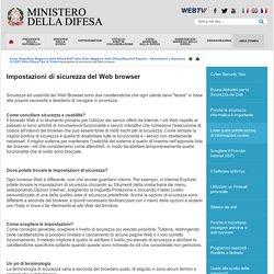 Impostazioni di sicurezza del Web browser - Difesa.it