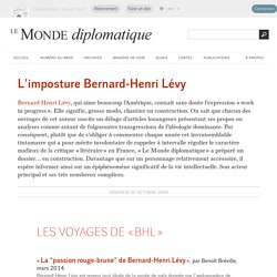 L'imposture Bernard-Henri Lévy