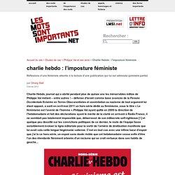 Charlie Hebdo : l'imposture féministe