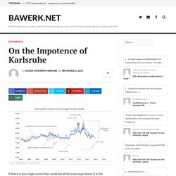 On the Impotence of Karlsruhe