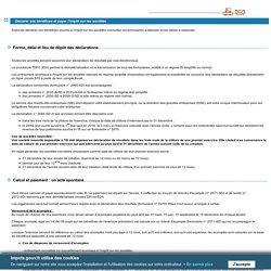 Impôts sur les sociétés et contributions