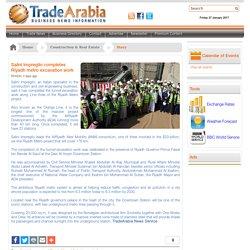 Salini Impregilo completes Riyadh metro excavation work