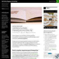 Imprenta para franquicias online
