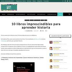 10 libros imprescindibles para aprender Historia