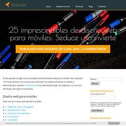 25 imprescindibles de diseño web para móviles: Seduce y convierte - Dispersium