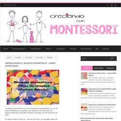 Imprescindibles - Bloques Geométricos - Libros de Recursos - - Creciendo con Montessori