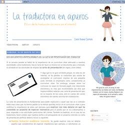 Dos documentos imprescindibles (II): la carta de presentación del traductor
