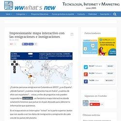Impresionante mapa interactivo con las emigraciones e inmigraciones