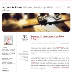 Impress.js, une alternative libre à Prezi
