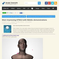 Most impressing HTML5 with WebGL demonstrations