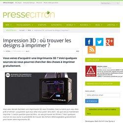 Impression 3D : où chercher les fichiers gratuits ?