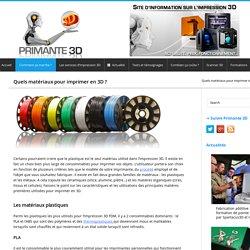 Matériaux d'impression 3D, consommables